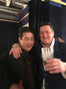 Ron Dziubla celebrating his birthday with the one and only Tony Hadley!